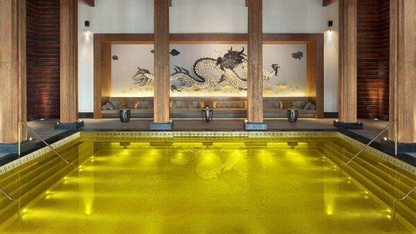 Golden energy pool in Tibet