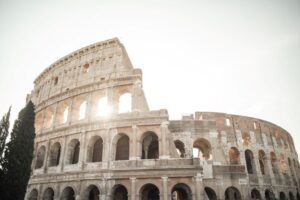Italy, Colosseum in Rome